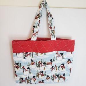 Holiday tote market bag reusable handmade